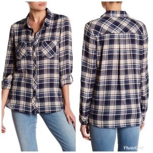 Soft Joie | Small | Long Sleeve Plaid Button Down